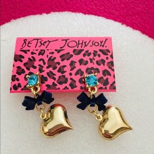 Bowed Heart Earrings